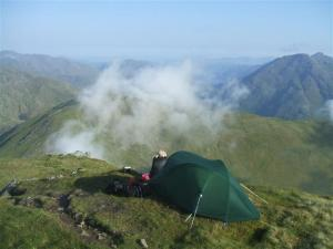 Early morning on the South Glen Shiel ridge