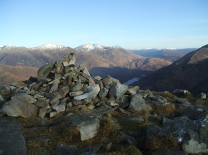 View towards Kinlochleven and Saturday's hill Na Gruagaichean
