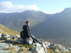 Craig looking over to Buachaille Etive Mor