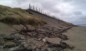 Eroding Ayrshire Coastline